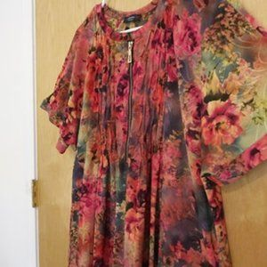 Cocomo Womens Plus Size 2X Silky Tunic Top